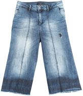 Diesel Cropped Wide Stretch Denim Jeans