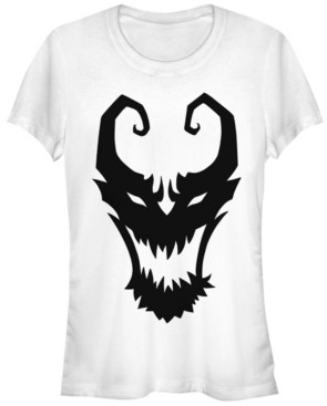 Fifth Sun Marvel Women's Venom Symbol Logo Comic Short Sleeve Tee Shirt