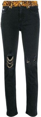 Versace Jeans Couture Distressed Jeans
