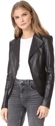 Theory Women's Peplum JKT L Jacket/Vest