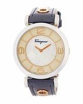 Salvatore Ferragamo Women's 'GANCINO DECO' Quartz Stainless Steel Casual Watch, Color:Blue (Model: FG3070014)