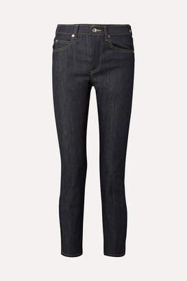 Eve Denim Silver Bullet High-rise Straight-leg Jeans - Dark denim