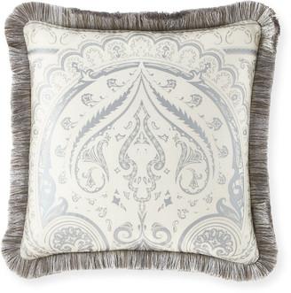 """Etro Poisson 18"""" Fringed Pillow"""