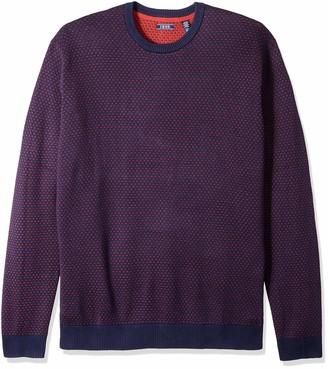 Izod Men's Big Jacquard 9 Gauge Crewneck Sweater