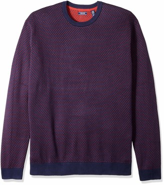 Izod Men's Tall Jacquard 9 Gauge Crewneck Sweater