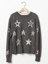 Gap Intarsia star marled sweater