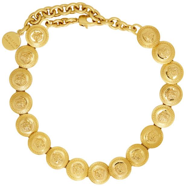 Versace Gold Tribute Coin Choker