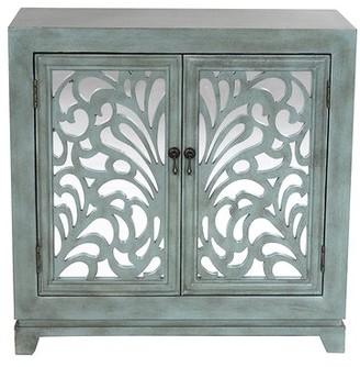 One Allium Way Ximena 2 Door Accent Cabinet One Allium Way Color: Black/Silver