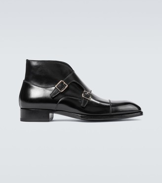 Tom Ford Sutherland double monk strap shoes