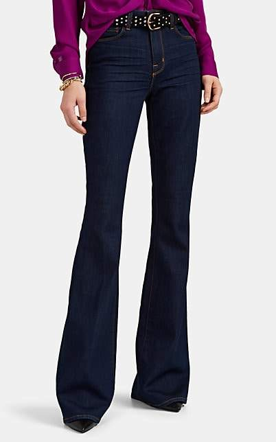 L'Agence Women's Bell High-Rise Flared Jeans - Dk. Blue