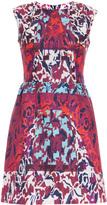 Peter Pilotto Tri Printed S/L Waffle Dress