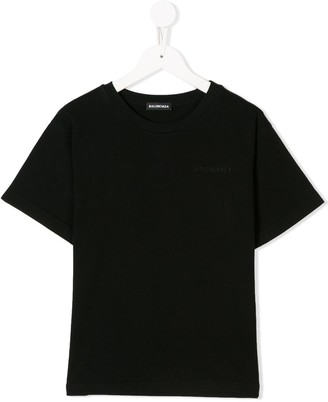 Balenciaga Kids embroidered logo T-shirt