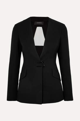 Akris Alize Tulle-panelled Wool-blend Crepe Blazer - Black