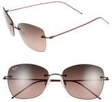 Maui Jim Women's 'Apapane' 55Mm Polarized Rimless Sunglasses - Burgundy/ Maui Rose