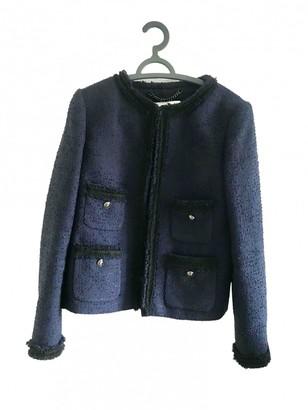 LK Bennett Navy Cotton Jacket for Women