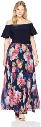 Xscape Evenings Women's Plus Size Off The Shoulder Dress