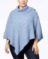 Karen Scott Plus Size Poncho Sweater, Created for Macy's