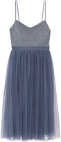 Needle & Thread Coppelia Embellished Gauze And Tulle Midi Dress - Blue