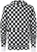 Amiri - hooded checker-print sweatshirt - men - Cotton - M