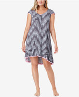 Ellen Tracy Plus Size Flutter-Sleeve High-Low Nightgown