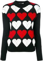 Love Moschino heart knitted jumper - women - Acrylic/Wool - 38