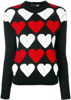 Love Moschino heart knitted jumper - women - Acrylic/Wool - 40
