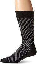 Happy Socks Men's 1 Pack Unisex Combed Cotton Crew-Black Diagonal Stripe