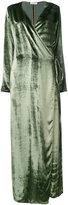 Attico - maxi wrap dress
