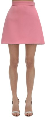 Miu Miu Faille Cady Mini Skirt W/ Crystals
