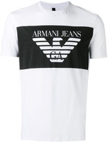 Armani Jeans logo print T-shirt - men - Cotton - XL