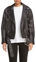 Acne Studios Women's Merlyn Leather Moto Jacket