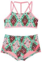 Gossip Girl Girl's 'Aztec Harvest' Print Two-Piece Swimsuit