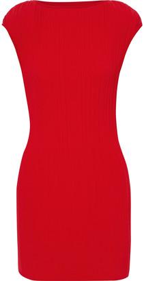 Maje Rocka Plisse-crepe Mini Dress