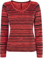 Karen Millen Stripe T-shirt - Red/multi