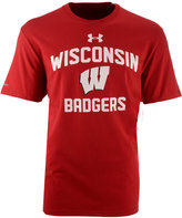 Under Armour Men's Wisconsin Badgers Charged Cotton T-Shirt