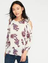 Old Navy Ruffled Cold-Shoulder Blouse for Women
