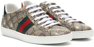 Gucci Ace canvas printed sneakers