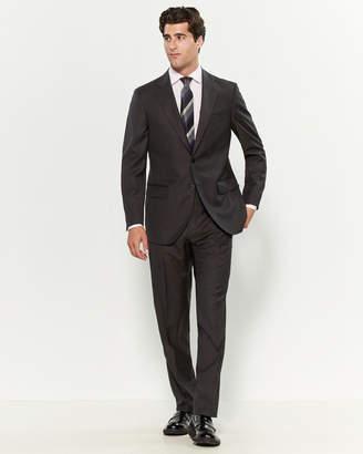 Luigi Bianchi Mantova Zegna Fabric Suits By Two-Piece Grey Grid Pattern Suit