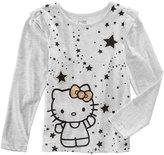 Hello Kitty Stars Glitter T-Shirt, Toddler and Little Girls (2T-6X)