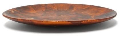 Dinosaur Designs Temple Marble-effect Resin Platter - Brown Multi