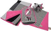 Trend Lab Pink & Black Serena Blanket Set