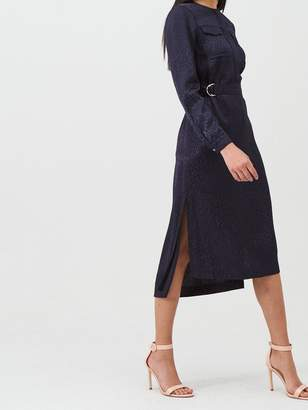 Ted Baker Kinzley Utility Dress With Buckle Detail - Dark Blue