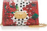 Dolce & Gabbana Portofino Printed Textured-Leather Shoulder Bag