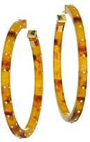 Thumbnail for your product : Gas Bijoux Helios 24K Goldplated & Acetate Studded Hoop Earrings