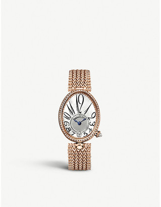 Breguet G8918BR58J20D000 Queen of Naples rose-gold, mother-of-pearl and diamond watch