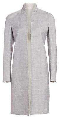 Akris Women's Reversible Wool & Silk Long Jacket