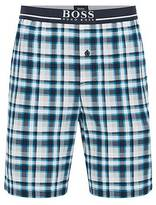 Hugo Boss Regular-fit pyjama shorts in a bold check