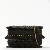John Lewis Capri Boxed Clutch Bag, Gold / Black