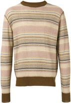 Our Legacy Distressed Stripe jumper - men - Linen/Flax - S