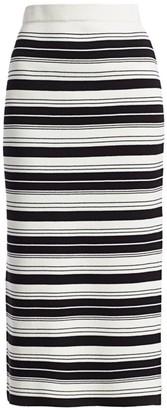 Proenza Schouler White Label Pinstripe Midi Skirt